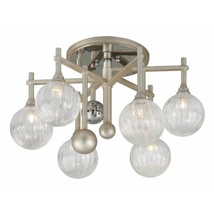 Majorette 6-Light Semi Flush Mount by Corbett Lighting