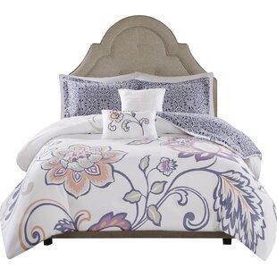 Aileen 5 Piece Reversible Print Comforter Set
