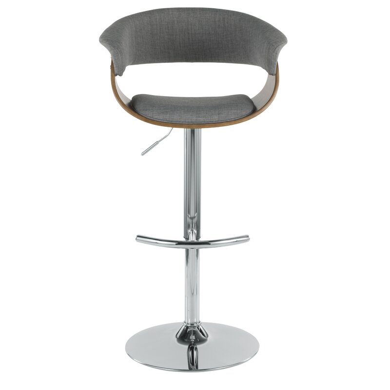 All Modern Colby Swivel Adjustable Height Bar Stool