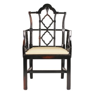 Awesome Chinese Chippendale Fabric Armchair