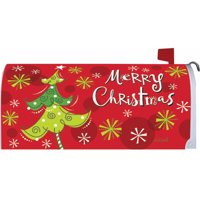 Christmas Mailbox Covers.Whimsy Christmas Tree Mailbox Cover