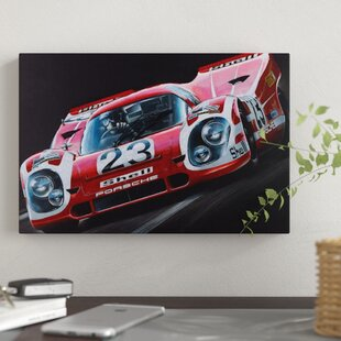'Porsche 917' Graphic Art Print on Canvas By East Urban Home
