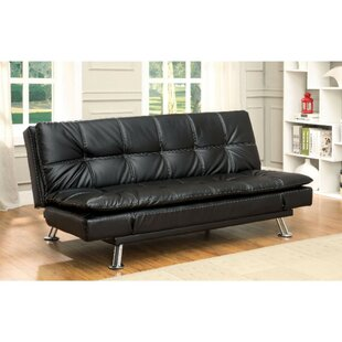 Findlen Leatherette Upholstered Futon And Mattress