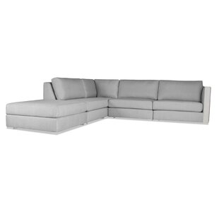 Steffi Left Hand Facing Modular Sectional with Ottoman