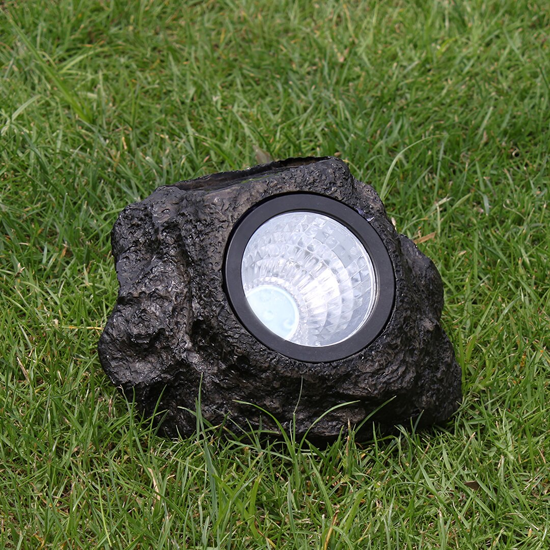 Seery Black Solar Powered Integrated LED Well Lights