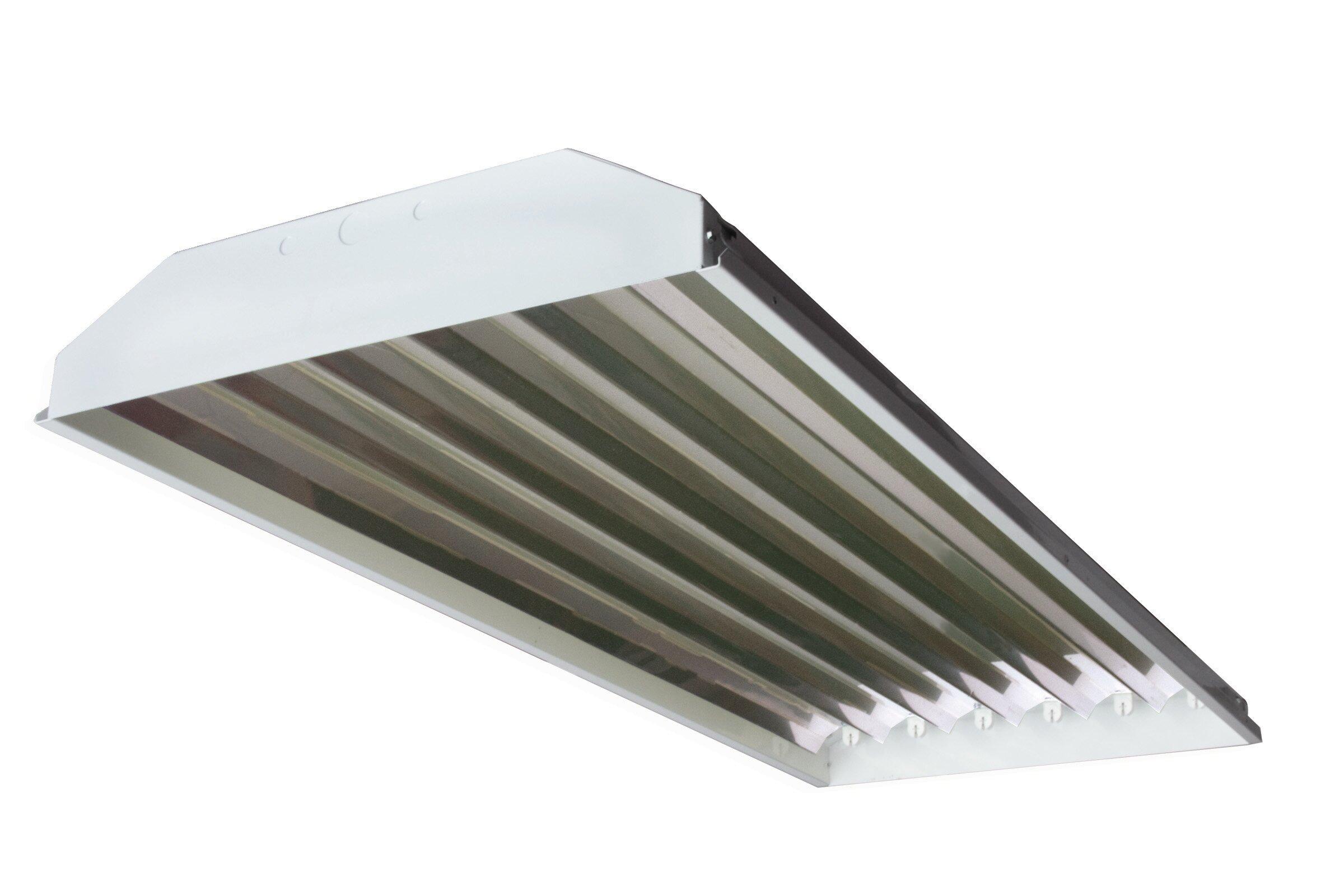 Shop Light 4-Light Grey Fluorescent Detachable Wire Guard 12 in Reflector