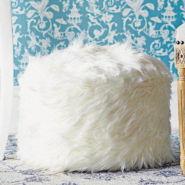 Fantastic Fuzzy White Ottoman Wayfair Machost Co Dining Chair Design Ideas Machostcouk