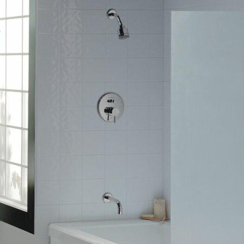 Serin Diverter Pressure Balanced Bath Shower Faucet Trim Kit