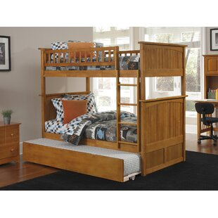 Abbie Twin Over Twin Standard Bed with Trundle by Harriet Bee