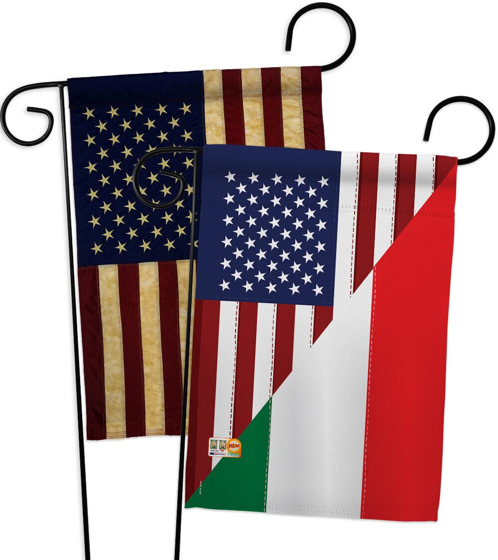 Breeze Decor American Italian Friendship Impressions Decorative 2 Sided Polyester 19 X 13 In 2 Piece Garden Flag Set Wayfair