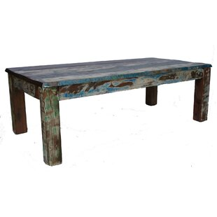 Sanjay Old Painted Teak Coffee Table By World Menagerie