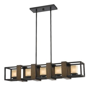 Best Reviews Los Banos 5-Light Kitchen Island Pendant By Loon Peak