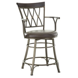 Affordable Price Ellis Island 24 Swivel Bar Stool By Red Barrel Studio