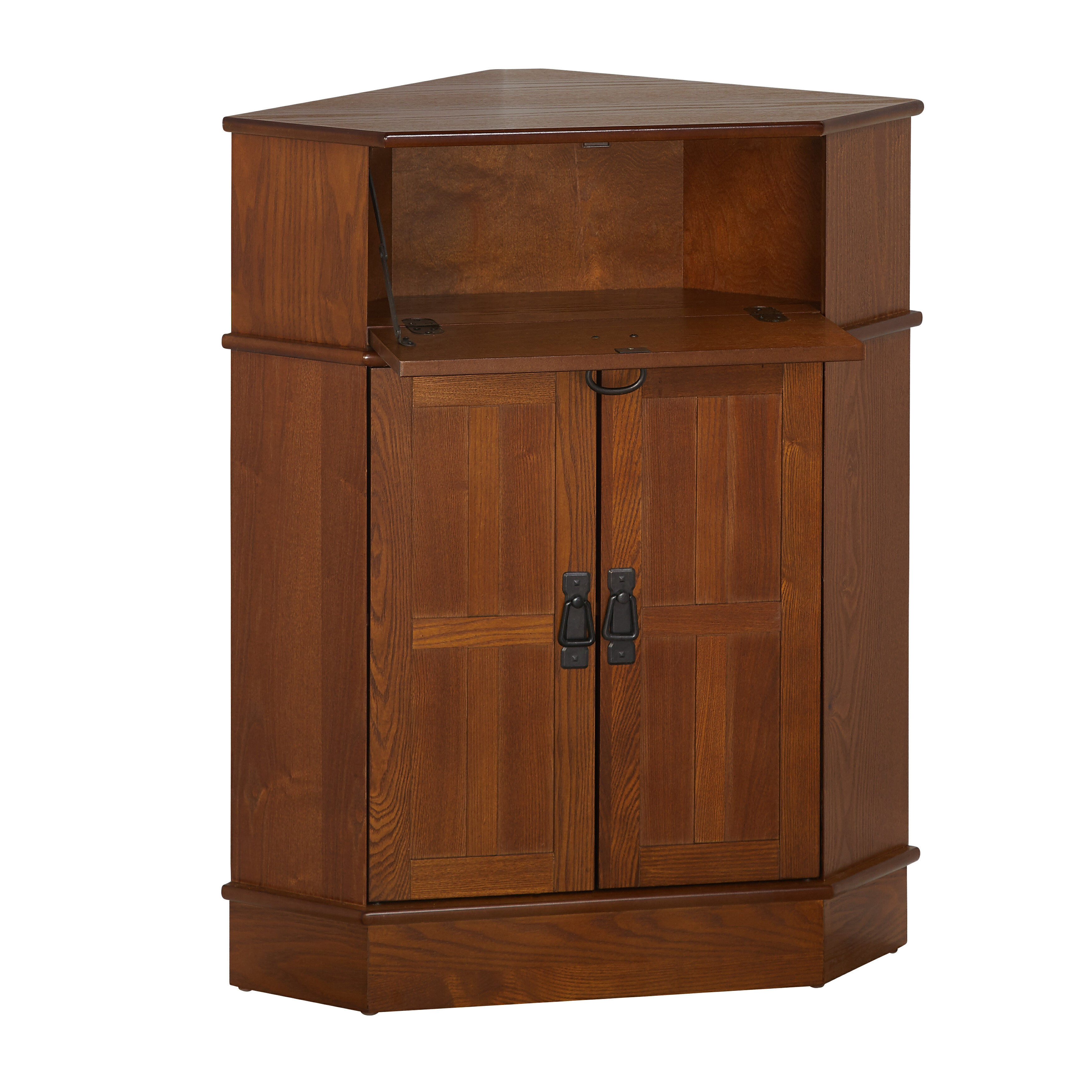 Wood furniture door Teak Wood The Home Depot Charlton Home Gulley Door Corner Cabinet Reviews Wayfair