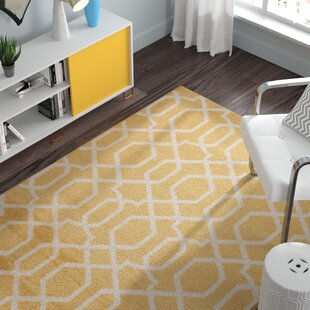 Affordable Price Ryann Yellow Area Rug By Zipcode Design