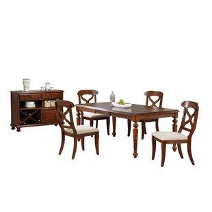 Lockwood 6 Piece Solid Wood Dining Set Loon Peak