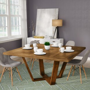 Macarthur Solid Wood Dining Table by Ivy Bronx Today Only Salet
