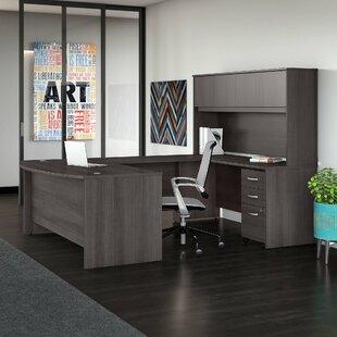 Bush Business Furniture Studio C 5 Piece U-Shaped Desk Office Suite