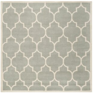 Best Reviews Wilkin Hand-Tufted Gray/Ivory Area Rug By Wrought Studio