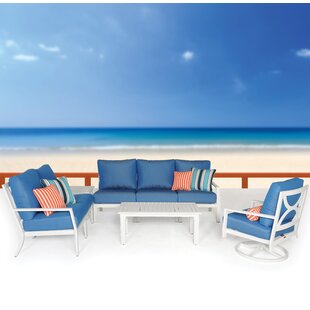 Verona 4 Piece Sunbrella Sectional Set with Cushions