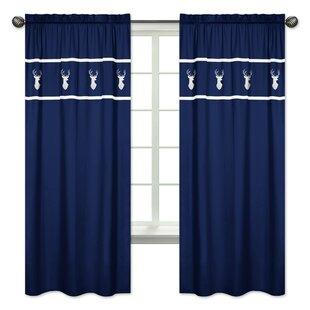 Navy Blue Bedroom Curtains   Wayfair