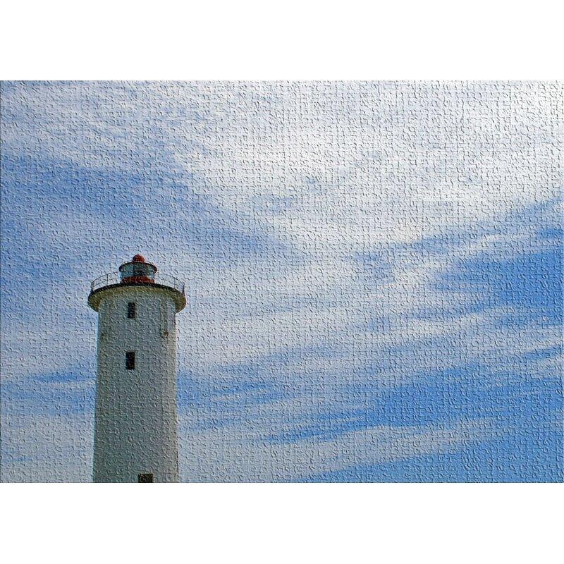 East Urban Home Lighthouse Blue Area Rug Wayfair
