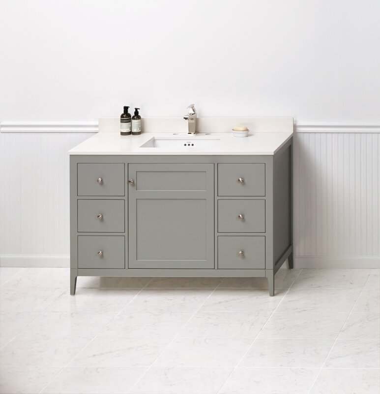 "ronbow briella 48"" single bathroom vanity set 