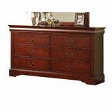 Hann 6 Drawer Double Dresser by Alcott Hill®