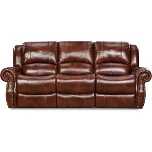 Darby Home Co Additri Leather Reclining Sofa