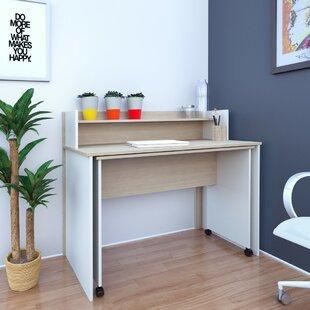 Nexera Atelier Writing Desk with Hutch