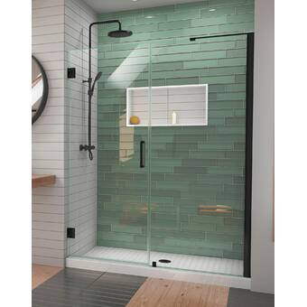 Arizona Shower Door Scottsdale 56 X 72 Hinged Frameless Shower Door With Invisible Shield By Clean X Wayfair