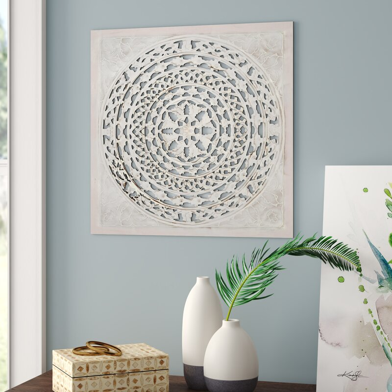 How to decorate your boho style living room. All Carved Square Wall Décor.