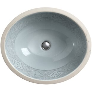 Kohler Caravan Ceramic Oval Undermount Bathroom Sink