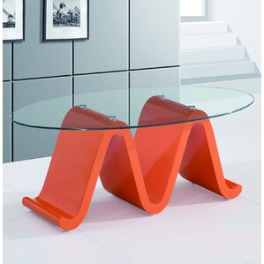 The Wave Elegant Coffee Table by Fab Glass and Mirror