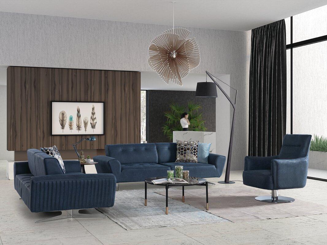 Orren Ellis Powden 3 Piece Reclining Living Room Set