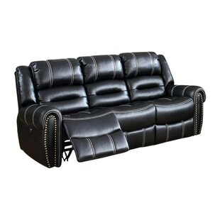 Ganey Leatherette Recliner Sofa by Red Barrel Studio