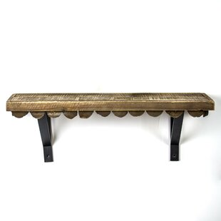 Mateer Scalloped Wood Rustic Floating Shelf