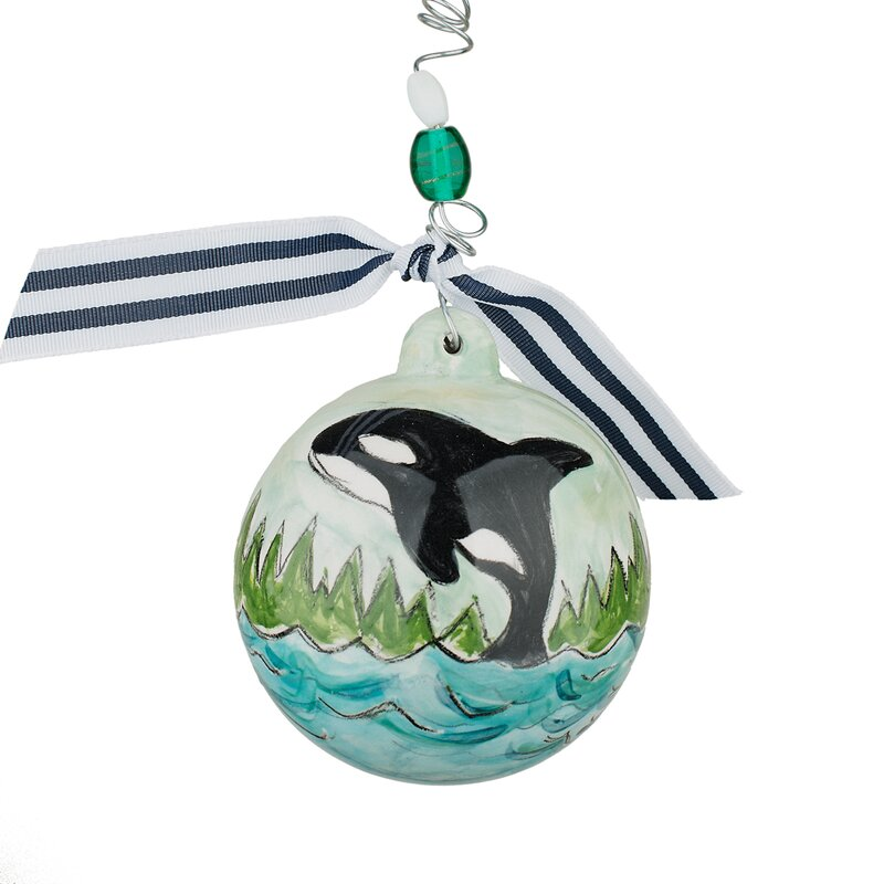 The Holiday Aisle Orca Whale Christmas Ball Ornament Reviews Wayfair