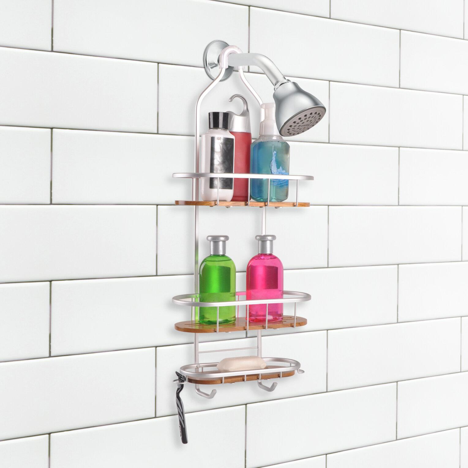 Utopiaalley Teak 3 Shelf Rustproof Shower Caddy Reviews Wayfair
