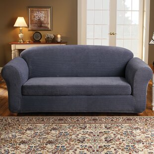 Stretch Royal Diamond Box Cushion Sofa Slipcover