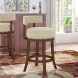 Norden Swivel Upholstered Bar & Counter Stool (Set of 2) by Andover Mills™