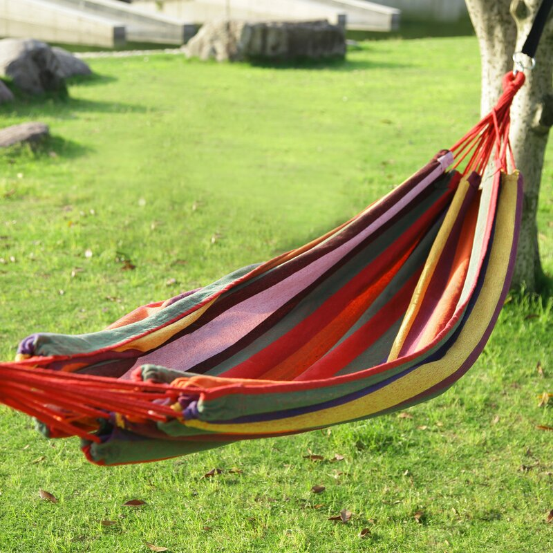 "AdecoTrading Hanging Suspended Tree Hammock  Size: 63"" W x 118"" D, Color: Antigua"