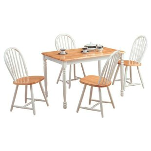 Orson 5 Piece Drop Leaf Breakfast Nook Dining Set August Grove