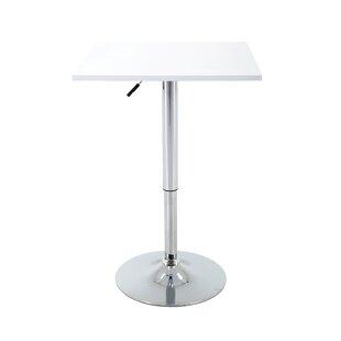 Orren Ellis Marquez Square Adjustable Pub Table