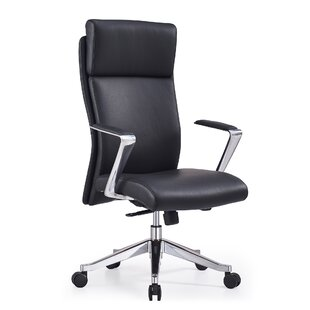 Orren Ellis Entwistle High Back Genuine Leather Office Chair