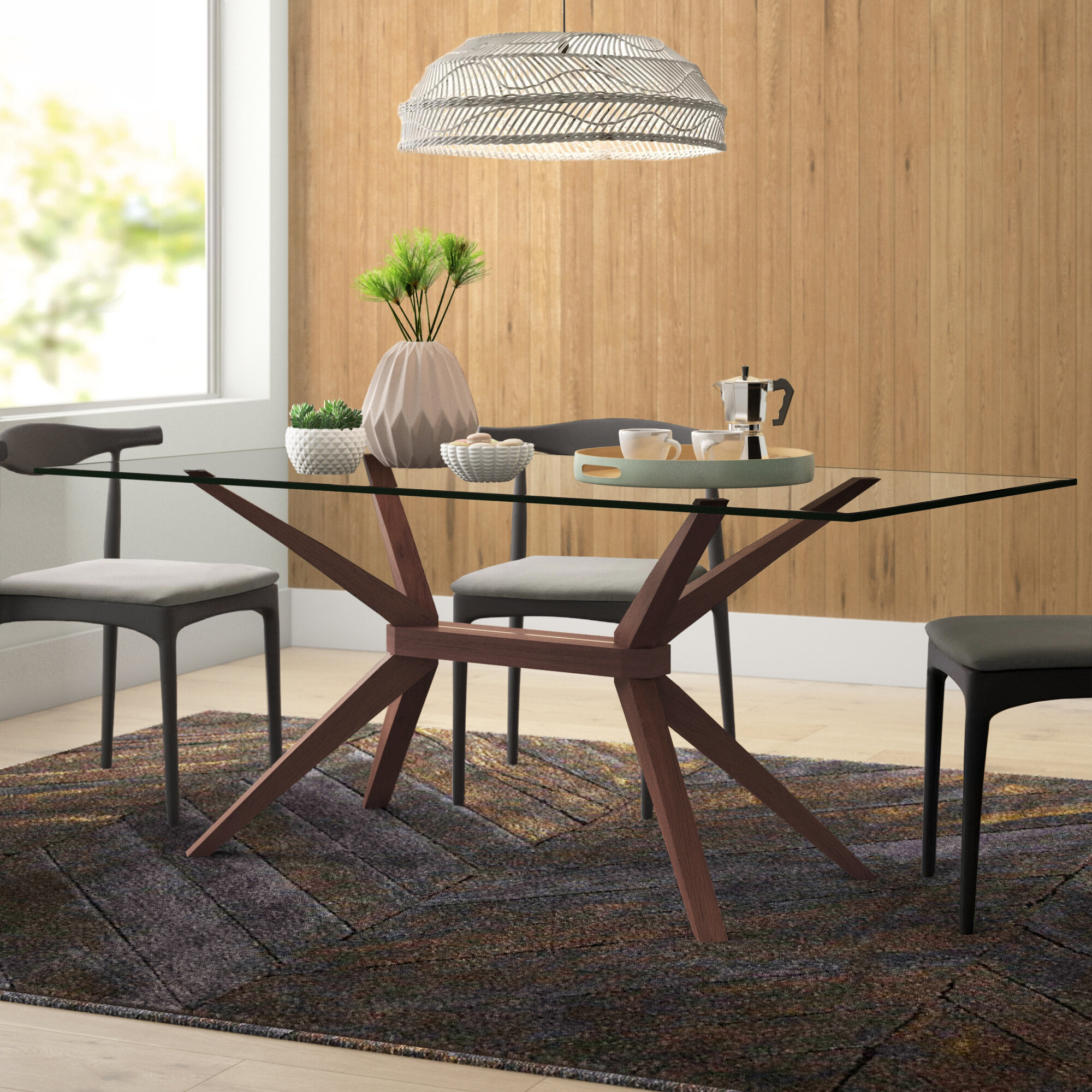 Glass Rectangular Kitchen Dining Tables You Ll Love In 2020 Wayfair