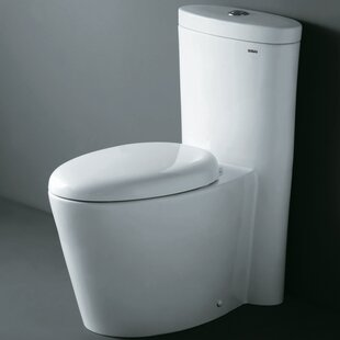 Ariel Bath Monterey Contemporary Dual Flush Elongated One-Piece Toilet