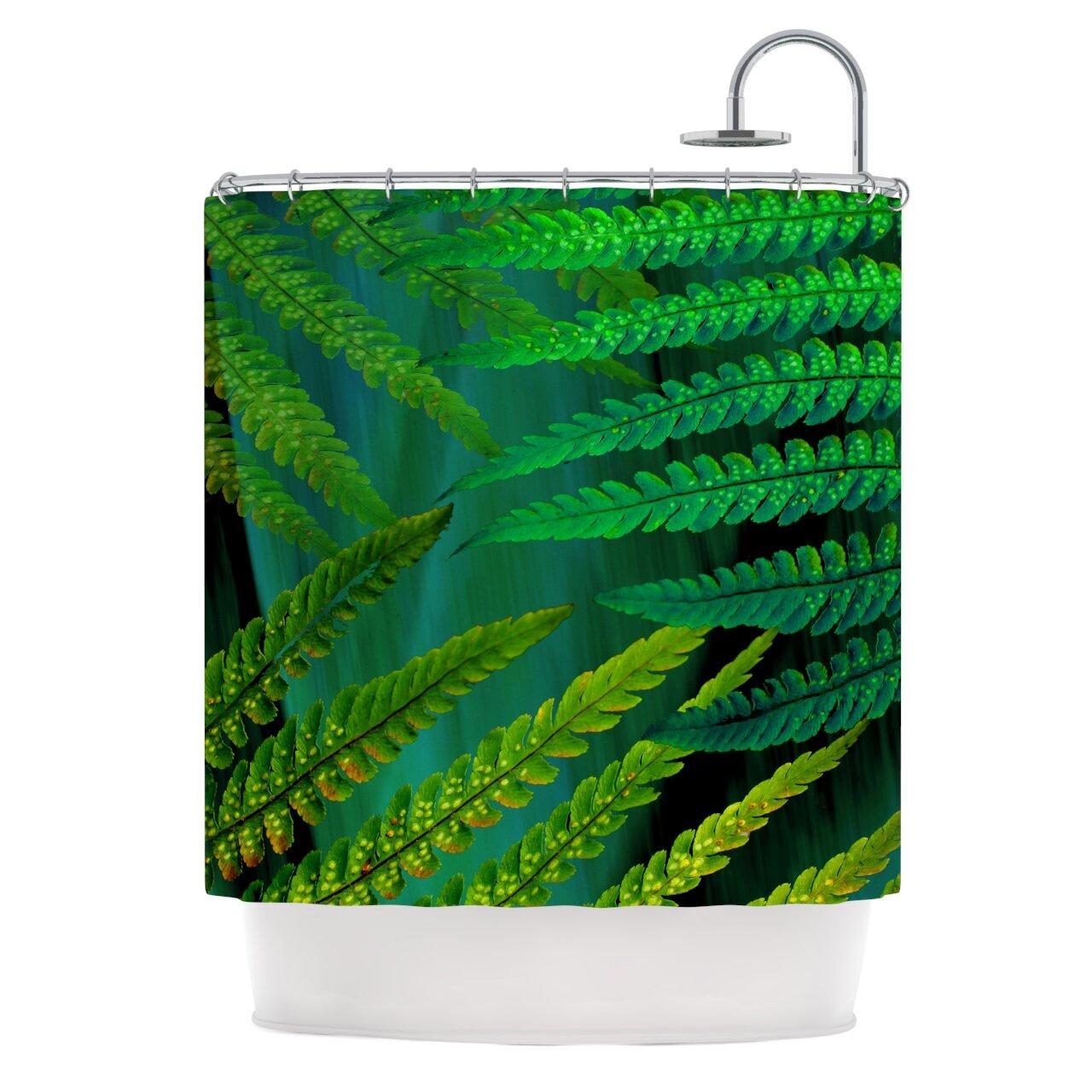 East Urban Home Forest Fern Shower Curtain & Reviews | Wayfair