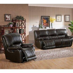 Canora Grey Walborn Reclining 2 Piece Leather Living Room Set