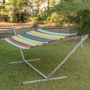 Josie Stripe Double Tree Hammock by Freeport Park Cheap